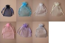 PACK OF 12 ORGANZA BAGS / POUCHES / WEDDING FAVOURS : CHEAPEST ON EBAY