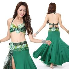 NEW!! C803 Belly Dance Costume Outfit Set Bra Top Belt Skirt Carnival Bollywood