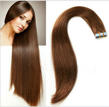 #6 Brown 100%  Remy PU Tape-In Extensions Human Hair Extensions Virgin Hair Hot