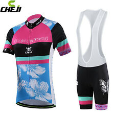 Women Cycling Jersey (Bib) Shorts Cycling Clothing Bike Suit Butterfly Orchid