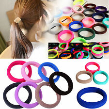 10PCS Colorful Elastic Rope Ring Hairband Women Girls Ponytail Holder Hair Band