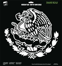 Mexican Flag Coat of Arms Eagle Snake Design Decal Vinyl Sticker Car Window New