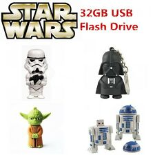 Cartoon Star War Warrior USB 3.0 Memory Stick Flash pen Drive 8GB 16GB 32GB