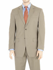 IZOD Classic Fit Solid Green Two Button Pleated Pants Suit