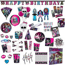 Monster High Party Birthday Pink Black Plates Napkins Tableware Supplies Listing
