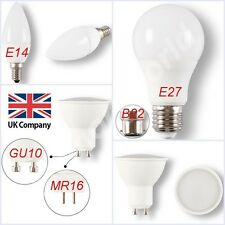 GU10 MR16 E14 E27 B22 5W 6W 7W 12W LED Bulbs Spotlight High Power Light Lamp UK
