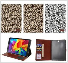 Magnetic Wallet Stand Case For iPad Galaxy TabA Flip Cover Smart Leopard Leather