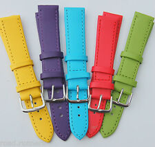 Watch Straps Pastel Metal Buckle Genuine Leather Band Ladies Choice of Colours