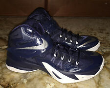 NEW Mens NIKE LeBron Zoom Soldier VIII Basketball Shoes Sneakers Navy Blue 11.5