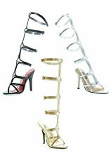 Ellie Shoes 5 Inch Heel Knee High Strap Up Sandal Women'S Size Shoe With T-Strap