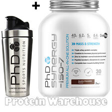 PhD Nutrition Synergy ISO 7 2kg Protein + New PhD Stainless Steel Shaker