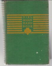 Vintage Girl Scout Handbook 1940 Sixth printing March 1944