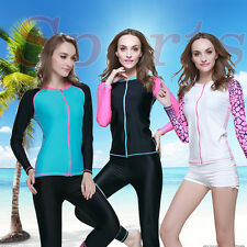 New Women Long Sleeve Rash guard  Sun Shirts Uv Surf Swim Top Lycra Swimwear Top