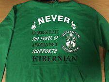 "HIBERNIAN HIBS EDINBURGH FOOTBALL HOOD ""NEVER ESTIMATE THE POWER"" WOMANS HOODIE"