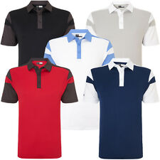 Callaway Golf 2016 Mens Chev Blocked Polo Shirt Opti-Dri Stretch Tech Colorblock