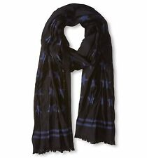 John Varvatos Star USA Men's Scarf Stars Navy Merino Wool SCW4067 $85 msrp NWT