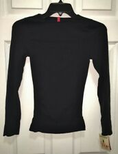 SPANX On Top and In Control Black Long Sleeve Crew Neck Top NEW Womens Sz M L XL