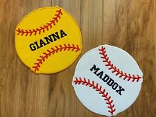 PERSONALIZED MONOGRAM CUSTOM Baseball Softball Iron On Applique Patch 4, 5, 6""