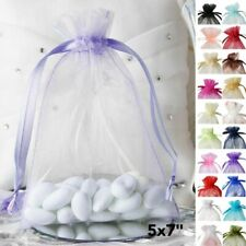 150 pcs 5x7 inch ORGANZA BAGS Pouches - Wedding FAVORS Drawstring Gift Packaging