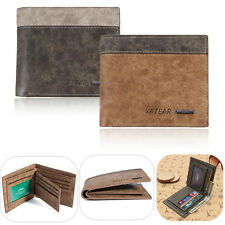 Top Fashion Men's Leather Bifold Wallet ID Card Holder Purse Clutch Pockets