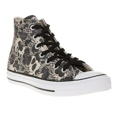 New Womens Converse Multi All Star Material Leather Trainers Animal Lace Up