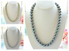 "D0038 24"" 14mm round SOUTH SEA SHELL PEARL NECKLACE"