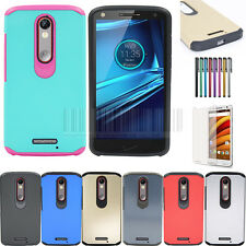 Hybrid Protective Rubber Hard Case Cover For Motorola Moto X Force Droid Turbo 2