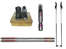 "New Whitewoods NNN ""Iron"" Cross Country Package Skis Boots Bindings Poles 197 cm"