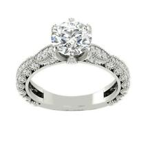 Round I1/G Huge 2.50Ct Diamond Unique Solitaire Anniversary Ring Band 14Kt Gold