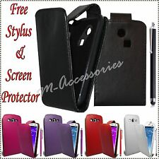 NEW FLIP PU LEATHER CASE COVER POUCH FOR NEW MOBILE PHONES +STYLUS+SCREEN GUARD