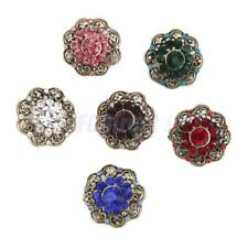 Vintage Rhinestone Crystal Brooch Button Collar Pin Bridal Wedding Bouquet Craft
