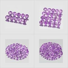 2mm Lot 10,20,50,100pcs Round Cut Accent Stone Natural A Purple AFRICA AMETHYST