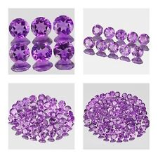 3mm Lot 6,10,50,100pcs Round Cut Accent Stone Natural AA Purple AFRICA AMETHYST
