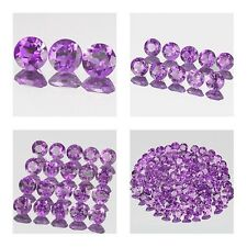3.5mm Lot 3,10,20,100pcs Round Cut Accent Stone Natural AA AFRICA AMETHYST