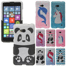 For Microsoft Nokia Lumia 640 Bling Crystal Gem Hard Skin Protector Case Cover