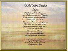 Daughter Personalized Poem Birthday Gift