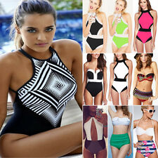Womens High Waist Bikini Set Padded Push Up Swimsuit Swimwear Beach Bathing Suit
