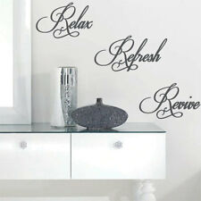 Relax Revive Refresh Art Wall Quote Stickers Wall Decals Words Lettering