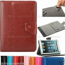 """Universal PU Leather Grip Stand Case Cover For 10"""" 10.1 Inch Tab Android Tablet"""