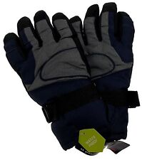 Athletech Mens Blue Gray Black Ski Gloves 3M Thinsulate Insulation Waterproof