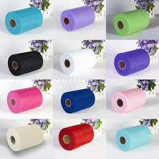 "6"" 100 Yard Tulle Rolls Wedding Party Decoration Gift Wrap Tutu Fabric Craft Bow"