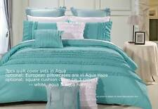 Wenshia Turquoise King or Queen Quilt Cover Set / Duvet Cover Set wh pillowcases