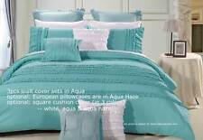 Wenshia Turquoise King / Queen Quilt Cover Set / embelished Duvet Cover Set