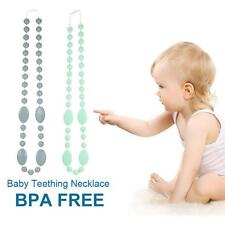 Silicone Teething Necklace Nursing for Mum Baby Chew Beads BPA Free Sensory R7H4