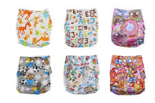 Newborn Baby Alva Cloth Diapers Flip Covers Reusable Washable Pocket Cute Nappy