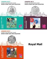 London 2012 Olympic Games - Sports 50p Coins & Stamps Pack -  Royal Mail
