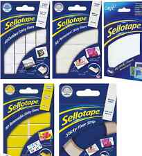 Sellotape Sticky Fixers Indoor Outddor Permanent Removable Foam Pads Tape Strip
