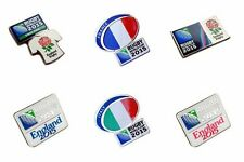 Official 2015 Rugby World Cup Pin Badges - RWC 2015 Pins on Backing Cards