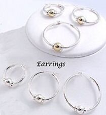 LeStage Cape Cod Earrings Sterling Silver, Solid14K Yellow Gold and Combination