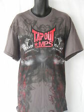 Tapout Tee Shirt Mens Size XL Wrestling MMA UFC Boxing Gray Logo 100% Cotton Red